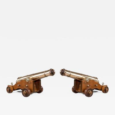 Pair Of Antique English Naval Cannon