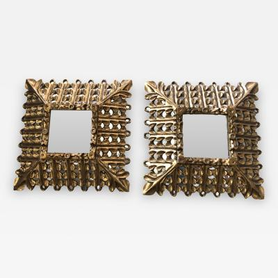 Pair Of Early 20th Century Giltwood Mirrors