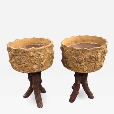Pair Of French Terracotta Jardinieres