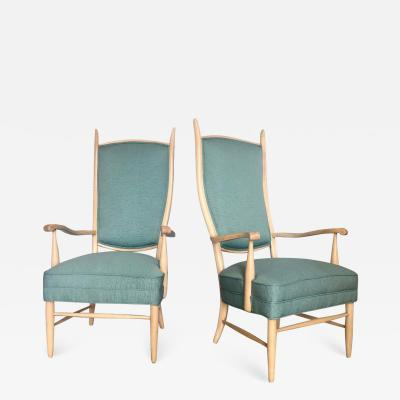 Pair Of Mid Century Modern Arm Chairs Attributed to Dunbar
