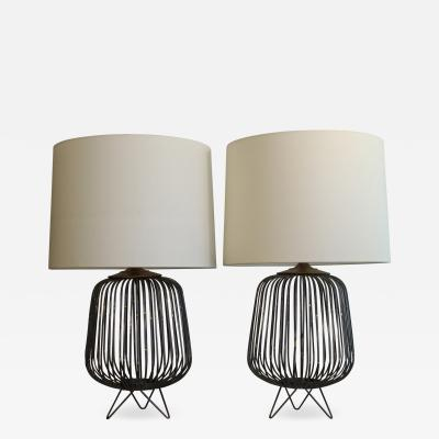 Pair Of Mid Century Modern Influence Table Lamps