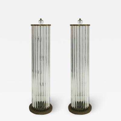 Pair Of Murano Glass Italian Floor Lamps 70s