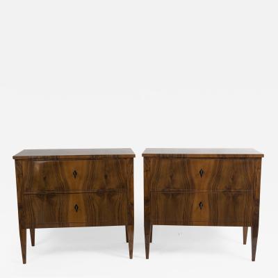 Pair Of Sleek Biedemeier Style Chests Of Drawers