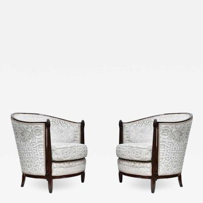 Pair Paul Follot design armchairs