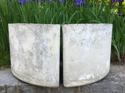 Pair Rare Corner Planters by Willy Guhl