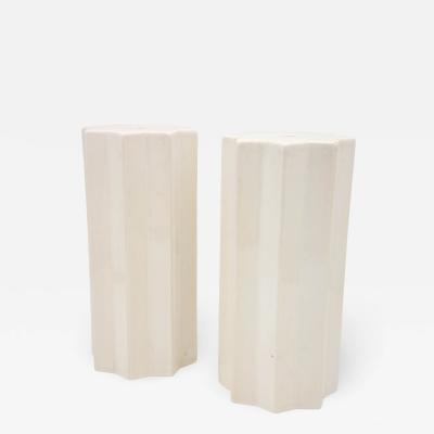 Pair Star Ceramic Objects