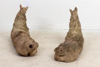 Pair Stone Horses