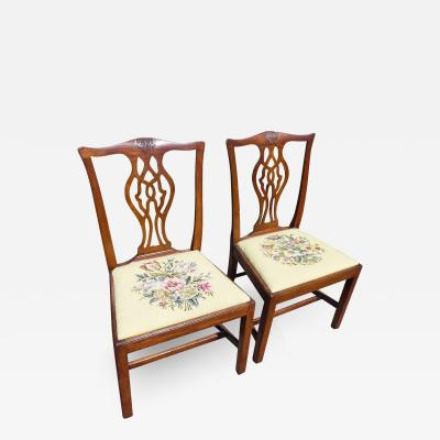Pair of 18th Century Chippendale Side Chairs