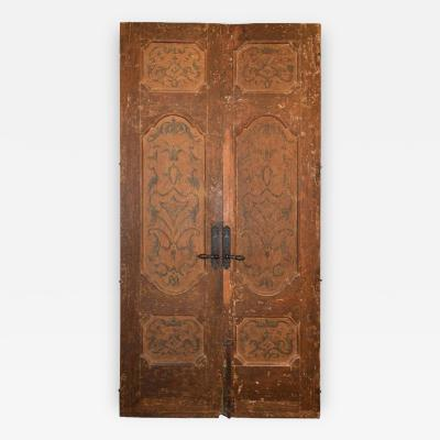 Pair of 18th Century Italian Doors Painted on Both Sides