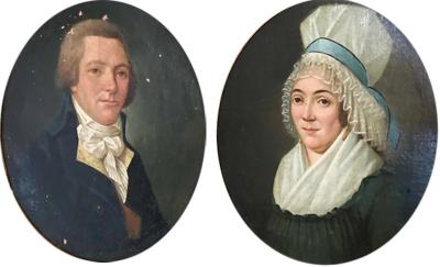 Pair of 18th Century Portraits French