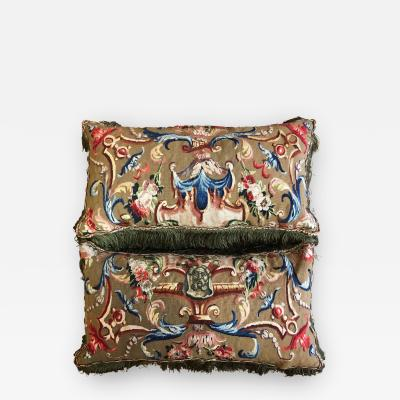 Pair of 18th Century Tapestry Cushions or Pillows