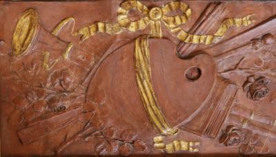 Pair of 18th Century Terra cotta Trophy Reliefs