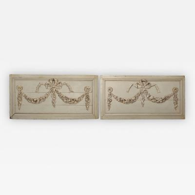Pair of 18th century wooden panels