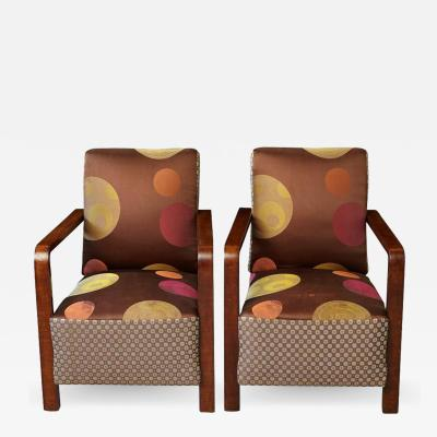 Pair of 1930s Art Deco Lounge Chairs from Buenos Aires