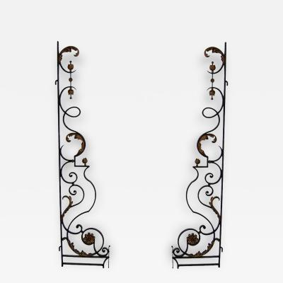 Pair of 1940s Wrought Iron Gates