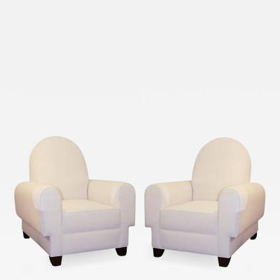 Pair of 1950 French Art Deco Chairs