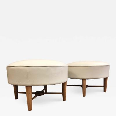 Pair of 1950s French Ottomans