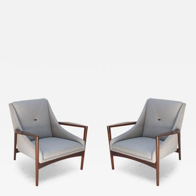 Pair of 1950s Ib Kofod Larsen Armchairs