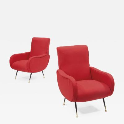 Pair of 1950s Marco Zanuso stryle Armchairs