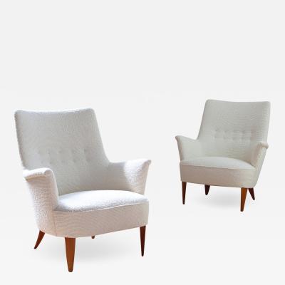 Pair of 1950s Swedish Modern Lounge Chairs