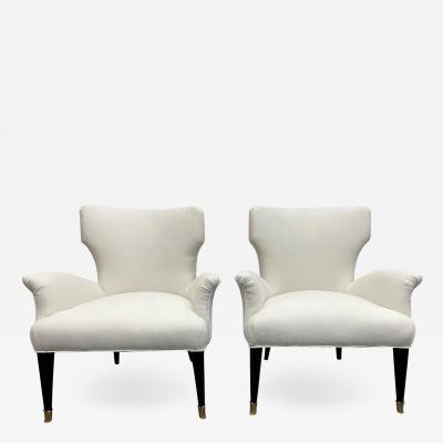 Pair of 1960s Italian Small Slipper Chairs
