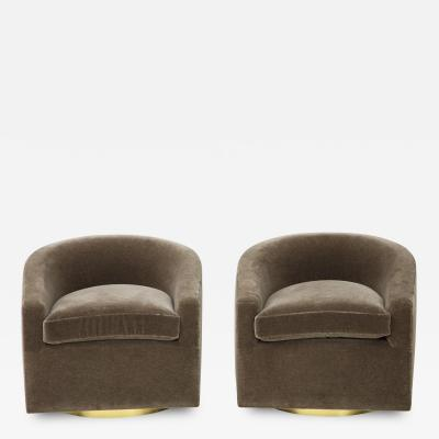 Pair of 1970s Swivel Club Chairs