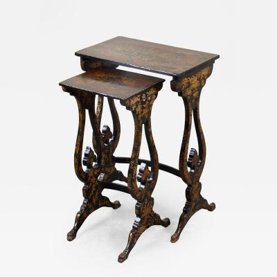 Pair of 19th C English Chinoiserie Pine Tables