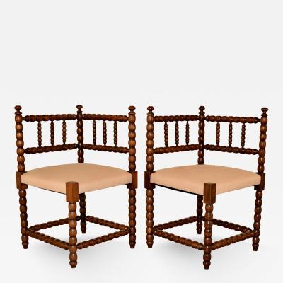 Pair of 19th Century Corner Chairs