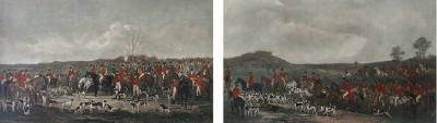Pair of 19th Century Engravings of English Fox Hunting Scenes