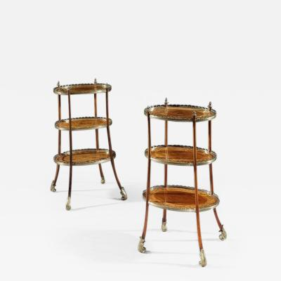 Pair of 19th Century Etageres Side Tables