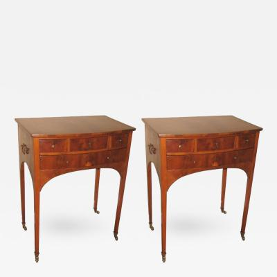Pair of 19th Century Flame Mahogany End Bedside Tables