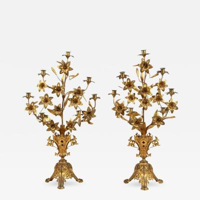 Pair of 19th Century French Candlesticks