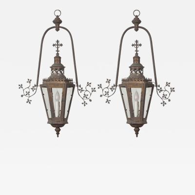 Pair of 19th Century French Church Lanterns