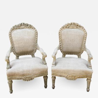 Pair of 19th Century French Fauteuil Chairs