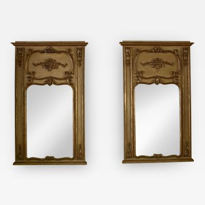 Pair of 19th Century Gilded Wood French Trumeau Mirror