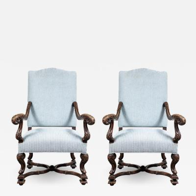 Pair of 19th Century Italian Armchairs