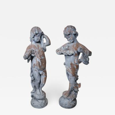Pair of 19th Century Italian Garden Statues