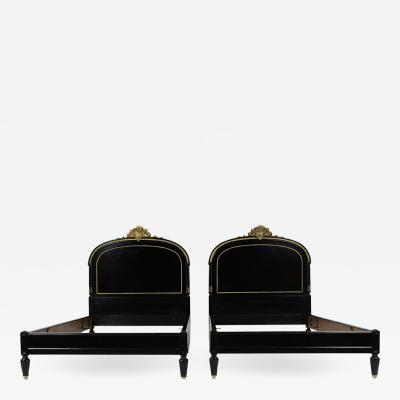 Pair of 19th Century Louis XVI Style Twin Extra Large Bed Frames