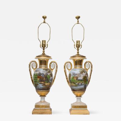 Pair of 19th Century Old Paris Lamps