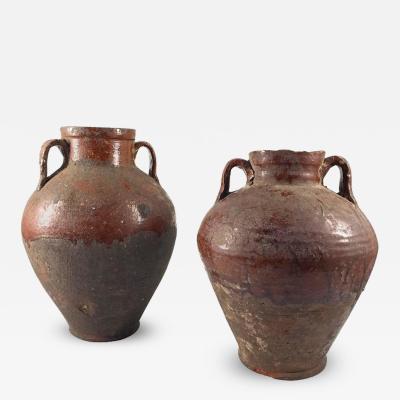 Pair of 19th Century Terracotta Urns Egypt