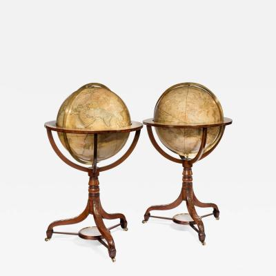 Pair of 21 Carys terrestrial and celestial library globes