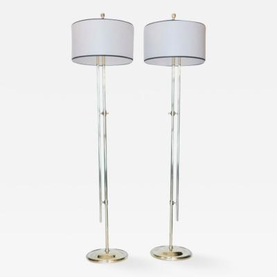 Pair of Adjustable French Floor Lamps