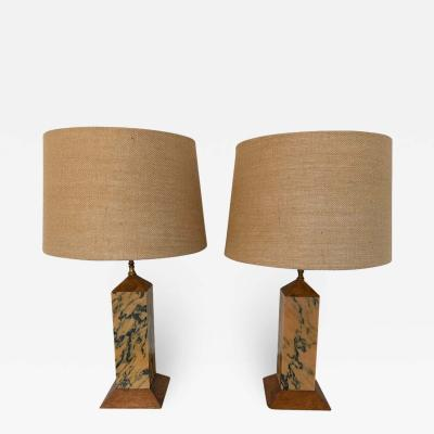 Pair of American Art Deco Mission 1920s Table Lamps
