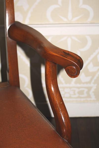 Pair of American Chippendale Revival Armchairs