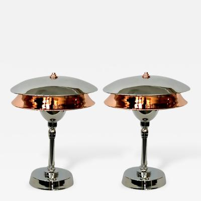 Pair of American Streamline Aviator Lamps