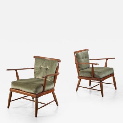 Pair of Anna L lja Praun chairs Austria 1960s