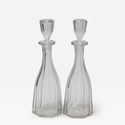 Pair of Antique American Blown Decanters 1850 United States