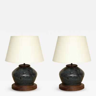 Pair of Antique Chinese Jar Lamps