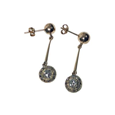 Pair of Antique Diamond Earrings C 1920