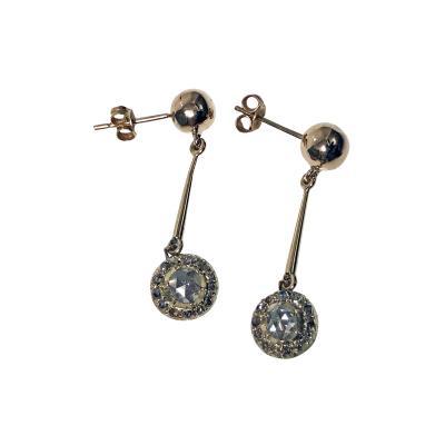 Pair of Antique Diamond Earrings C 1920